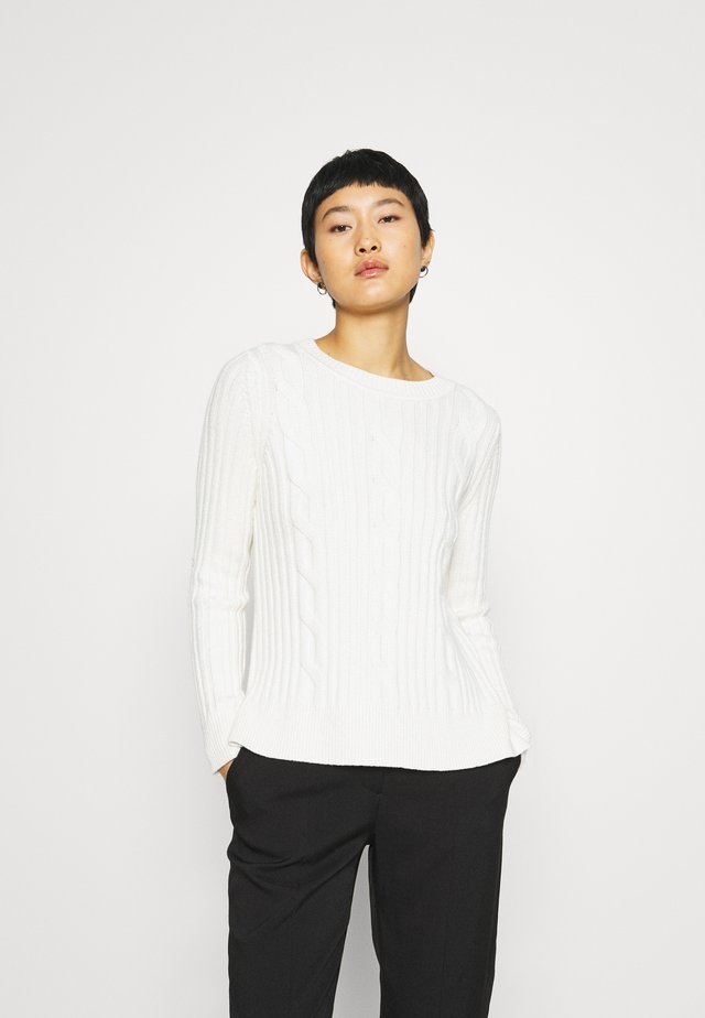 DOORBUSTER CREW CABLE - Sweter - ivory