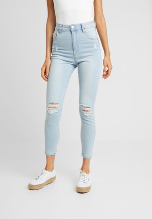 HIGH RISE CROPPED - Jeans Skinny Fit - summer bleach rips