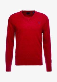 GANT - EXTRAFINE VNECK - Stickad tröja - red - 3