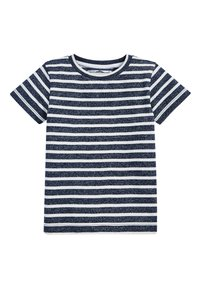 Next - NAVY/WHITE SHORT SLEEVE STRIPED T-SHIRT (3MTHS-7YRS) - Print T-shirt - blue - 0