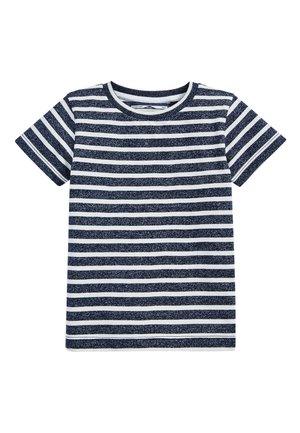 NAVY/WHITE SHORT SLEEVE STRIPED T-SHIRT (3MTHS-7YRS) - Print T-shirt - blue