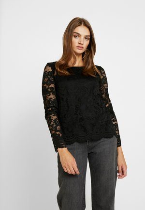 VMALVIA LACE BLOUSE - Blouse - black