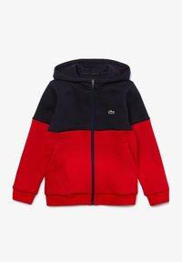 Lacoste Sport - veste en sweat zippée - bleu marine / rouge / blanc - 3