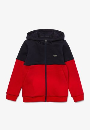 Zip-up hoodie - bleu marine / rouge / blanc