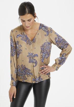 Blouse - brown big paisley print