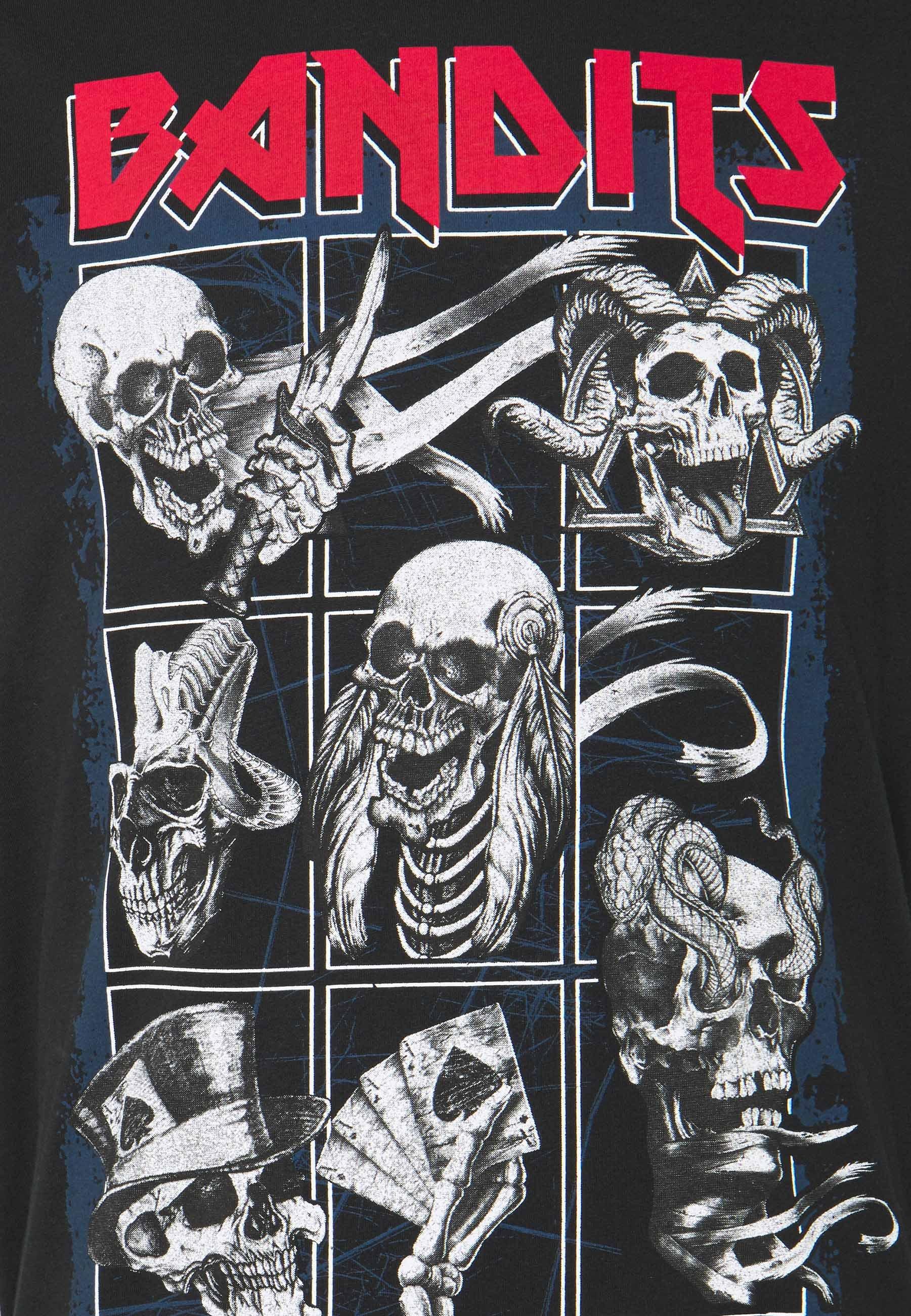 Brave Soul BANDIT - Print T-shirt - black WG1MY
