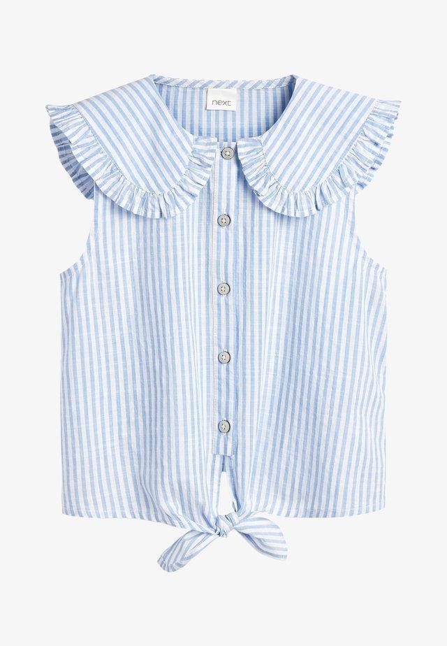 TIE FRONT - Overhemdblouse - blue