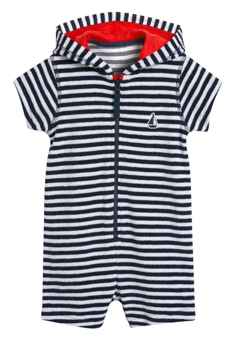 Next - NAVY STRIPE TOWELLING ALL-IN-ONE (3MTHS-7YRS) - Overal - blue