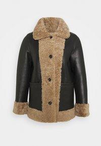 STUDIO ID - OLIVIA CONTRAST FRONT JACKET - Winter jacket - black/cream - 7