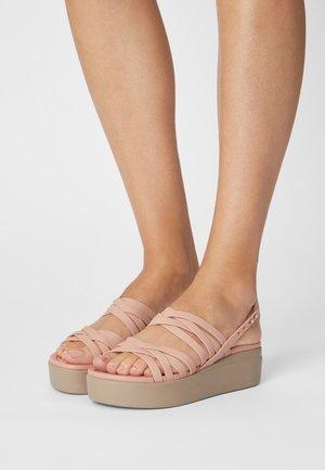 BROOKLYN STRAPPY - Sandales à plateforme - pale blush