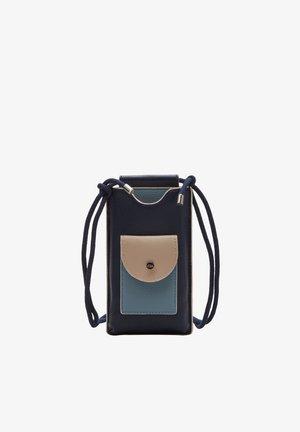 Phone case - dark blue/beige