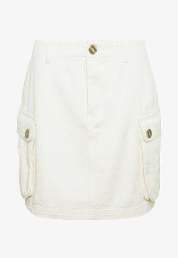 POCKET SKIRT - Mini skirts  - ecru