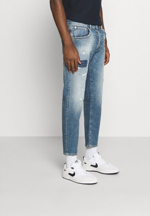 JJIMIKE JJLEEN CROPPED  - Jeans Tapered Fit - blue denim