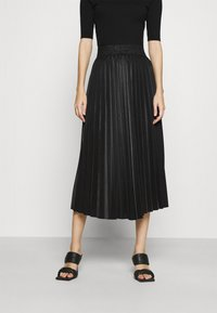 WAL G. - MONICA PLEATED SKIRT - A-line skirt - black - 0