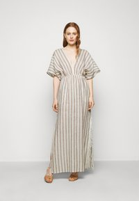 Tory Burch - STRIPED CAFTAN - Maxi dress - ivory/anise brown - 0