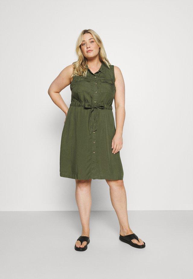 JTAMMY SHIRT DRESS - Day dress - kaki green