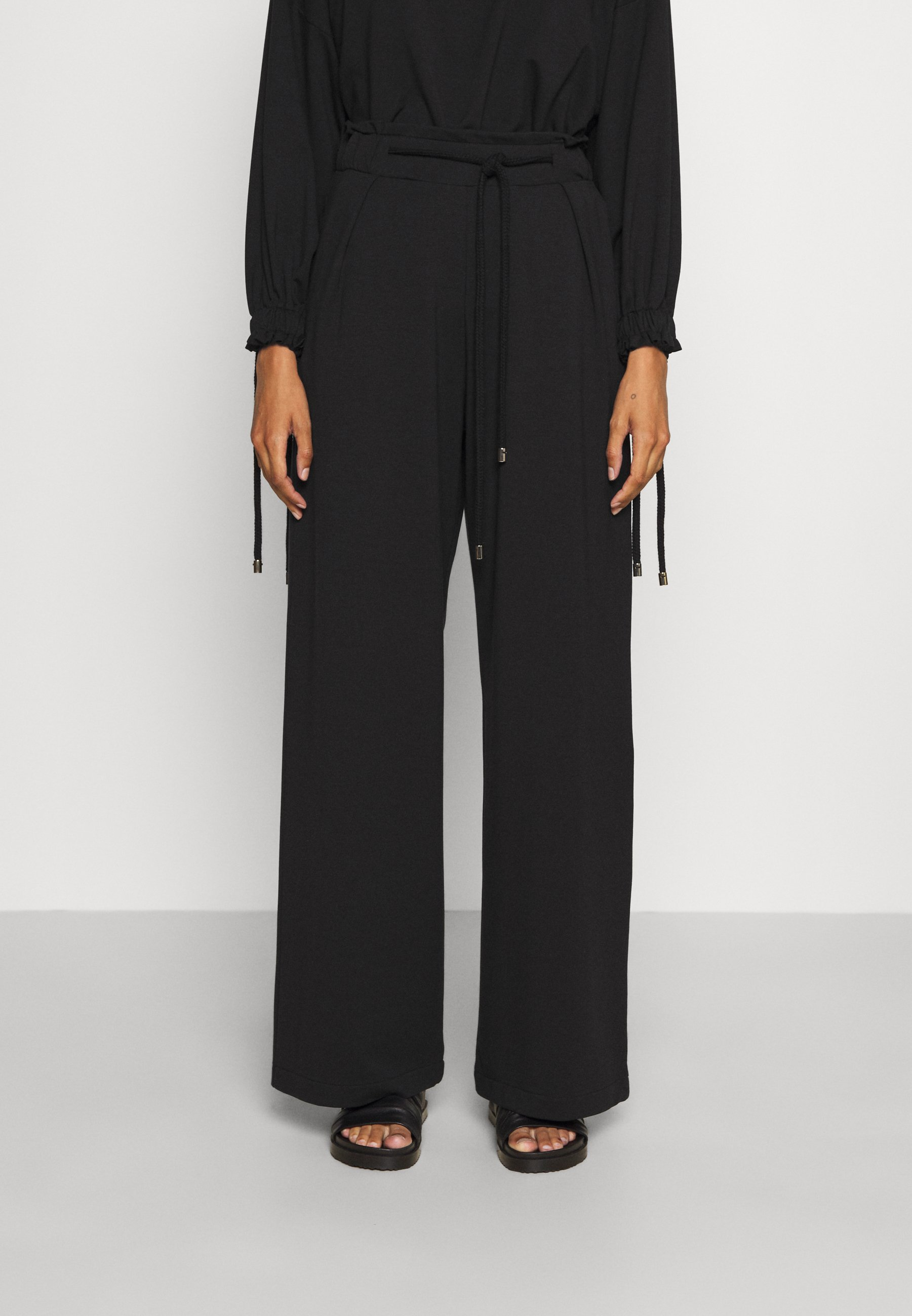 Women WIDE LEG JOGGER WITH ROPE TIE - Tracksuit bottoms
