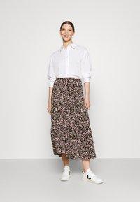 JDY - JDYURBAN MIDCALF SKIRT - A-line skirt - black/multicolor - 1