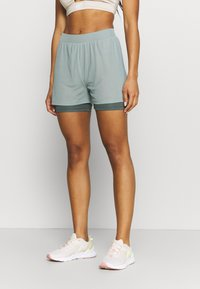 Even&Odd active - Sports shorts - green/blue-grey - 0