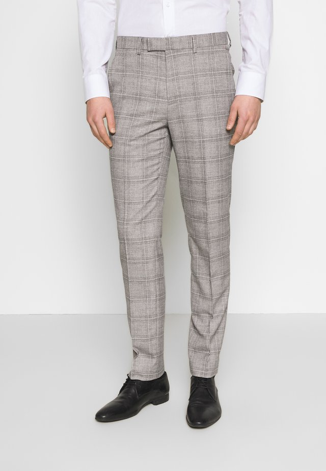 JASPE CHECK TROUSER SKINNY - Pantalon - mid grey