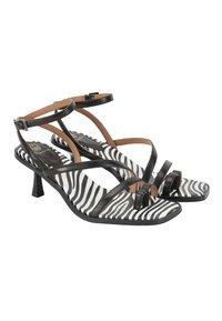 Ekonika - T-bar sandals - zebra-black - 2