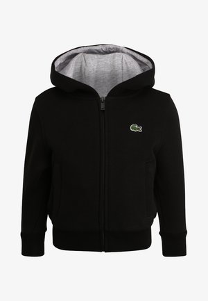TENNIS - Zip-up hoodie - noir/argent chine