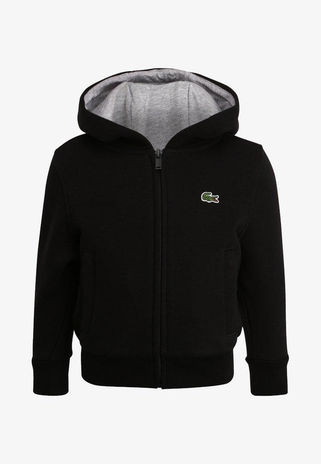 TENNIS - veste en sweat zippée - noir/argent chine