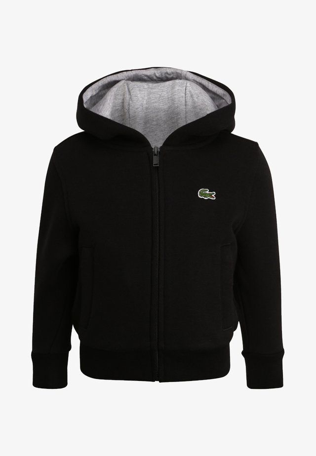 TENNIS - Zip-up hoodie - noir/argent chine