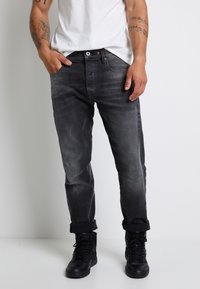 G-Star - SCUTAR 3D SLIM TAPERED - Jeans Tapered Fit - nero black stretch- antic charcoal - 0