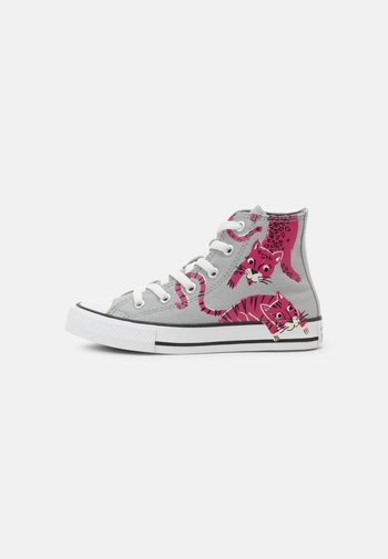 CHUCK TAYLOR ALL STAR JUNGLE CATS HI UNISEX - High-top trainers - ash stone/mason/prime pink