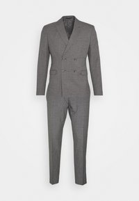 CHECK DOUBLE BREASTED SUIT - Kostym - grey
