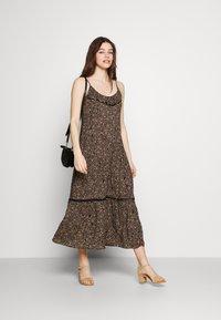 Cotton On - BECKY STRAPPY RUFFLE MAXI DRESS - Maxi dress - black - 1