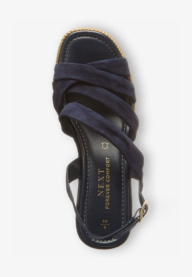 SOFT KNOT - Sandalen met sleehak - dark blue