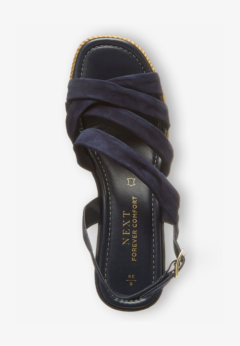 Next - SOFT KNOT - Wedge sandals - dark blue