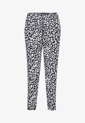 Pantalon classique - dunkelblau/weiß