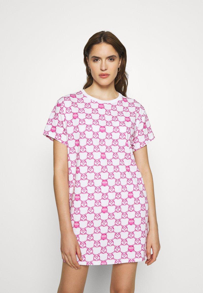 Moschino Underwear - MAXI - Pyjamasoverdel - fuxia fantasy