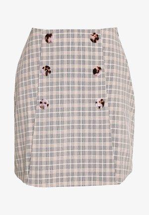 BETTY SKIRT - Mini skirt - black/cream