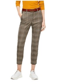 s.Oliver - Trousers - brown check - 4
