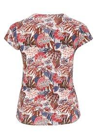 Paprika - MIT FARBIGEM ETHNO-PRINT - Print T-shirt - indigo - 1