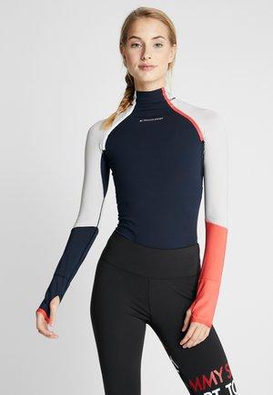 TRAIN WARM BODYSUIT - trikot na gymnastiku - blue