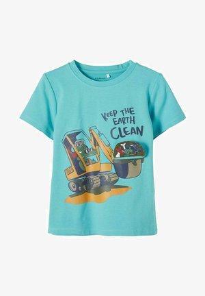 NMMDARSON  - T-shirt print - aqua