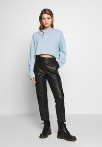 Topshop - PARIS RAW HEM - Sweatshirt - stone - 1
