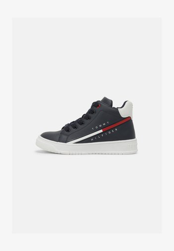 High-top trainers - blue/white