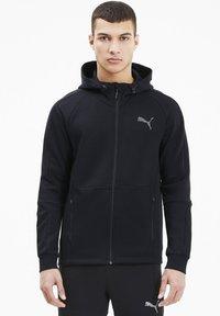 Puma - EVOSTRIPE HOODIE - veste en sweat zippée - black - 0