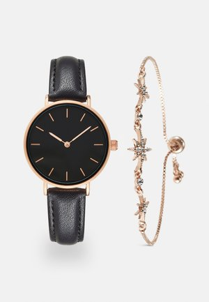SET - Watch - black/rose gold-coloured