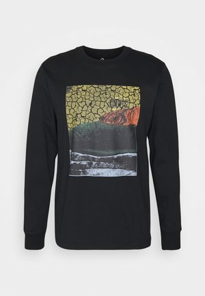 WORLDS COLLIDE LONG SLEEVE GRAPHIC - Long sleeved top - black
