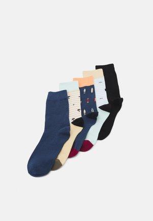 JACPOUL SOCK 5 PACK - Socks - sahara sun/shellcoral/paleblue/ensi