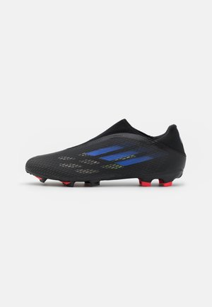 X SPEEDFLOW.3 FG - Moulded stud football boots - core black/sonic ink/solar yellow