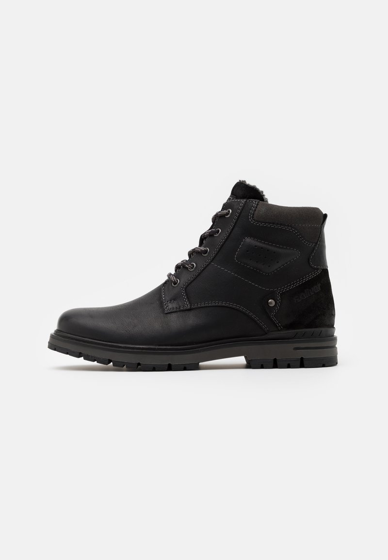 s.Oliver - Lace-up ankle boots - black