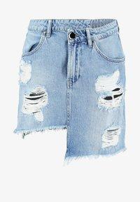 NGHTBRD - DESTROYED WRAPPED MINI - Denimová sukně - blue - 3